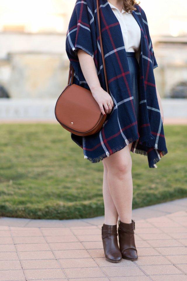 Sole Society Brown Leather Shoulder Bag