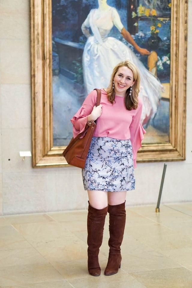 LOFT printed mini skirt