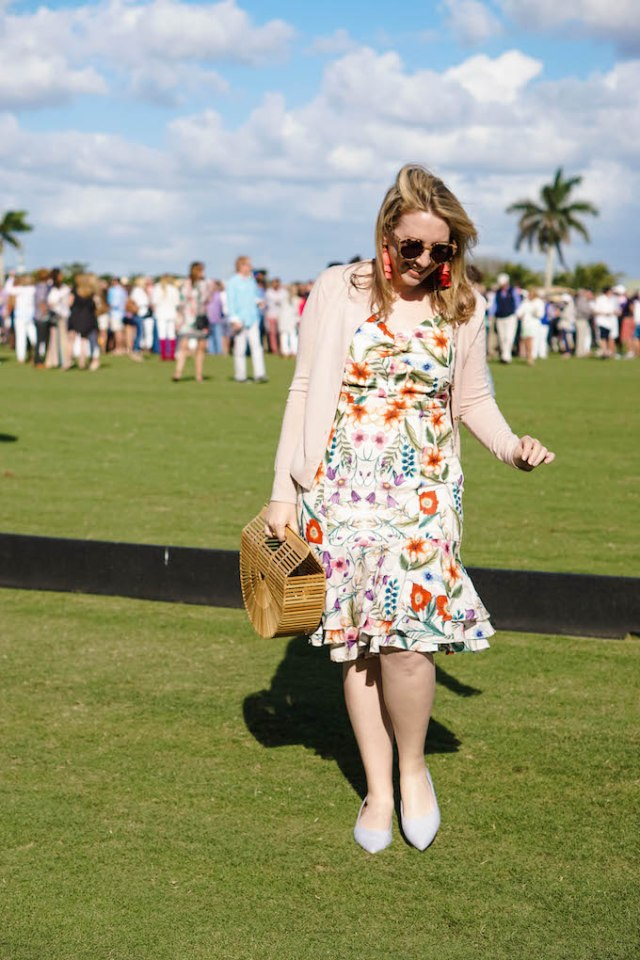 Preppy outfit to wear to a polo match, preppy spring outfit inspiration from a fashion blogger