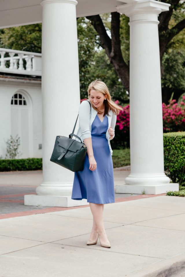 How to Decide if You're Ready to Get Your MBA | Ann Taylor Work Dress | Blue Work Dress via Glitter & Spice