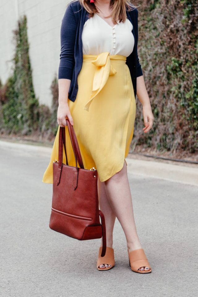 Summer Work Outfit Inspiration | How to Wear Yellow to Work | Yellow Outfit Inspiration via Texan fashion blogger