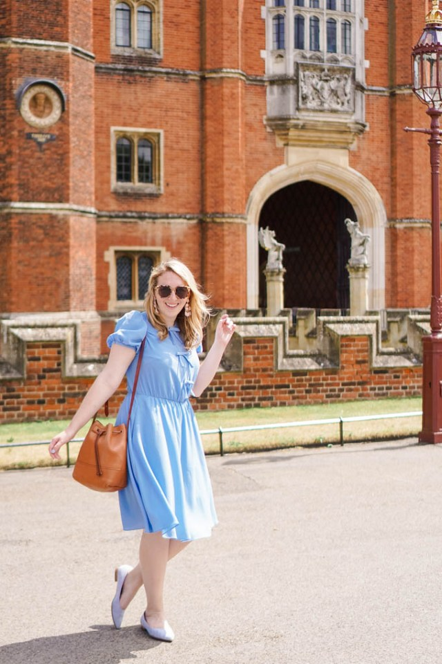 Gal Meets Glam Crepe Puff Sleeve Dress | What to Wear to a Bridal Shower | Dresses to Wear to Work via fashion blogger Glitter & Spice