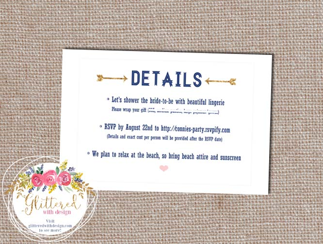 Galveston Bachelorette Invitation