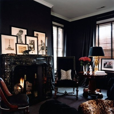 Color Crush: Black Rooms