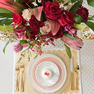 Valentine's Day Tablescape 2018