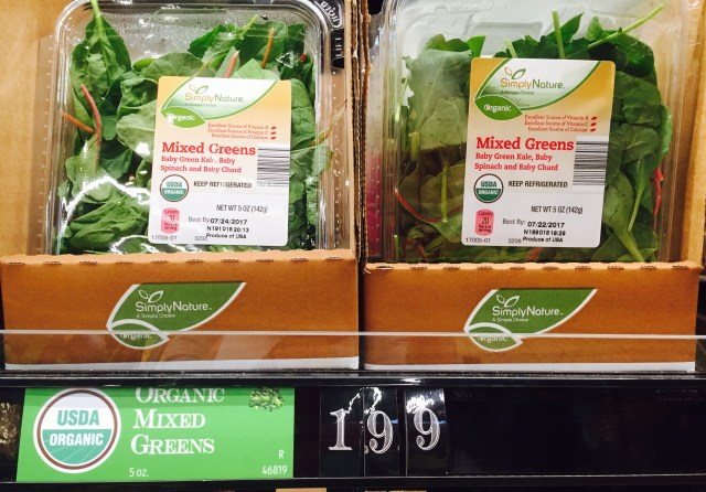 ALDI Organic Salad Products