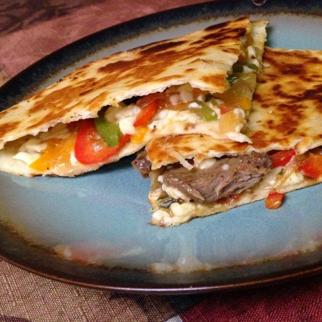 Steak Quesadillas make great freezer leftovers!