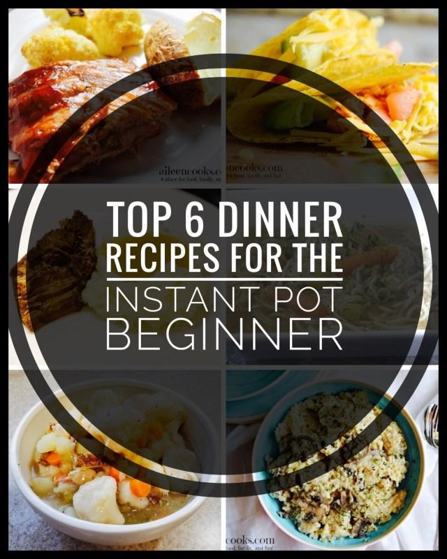 Top 6 Dinner Recipes for the Instant Pot Beginner!