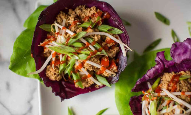 Whole 30 Asian Chicken Wrap