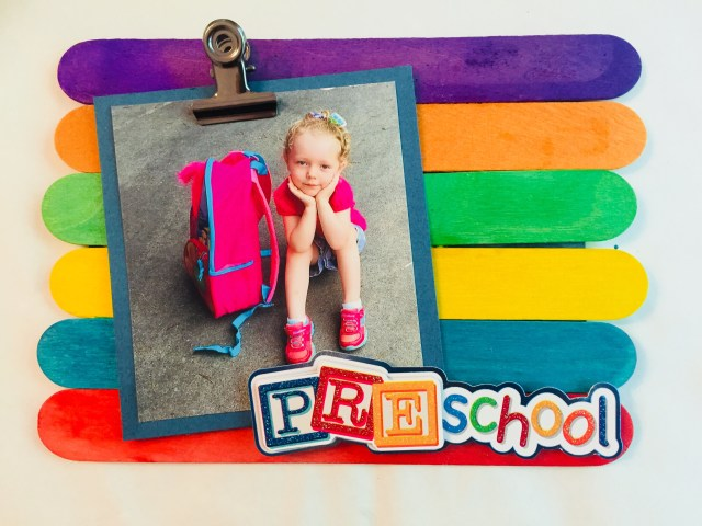 Back To School Popsicle Stick Frame Craft Glitter On A Dime