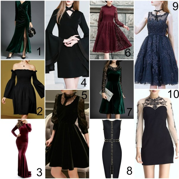 goth winter holiday dresses
