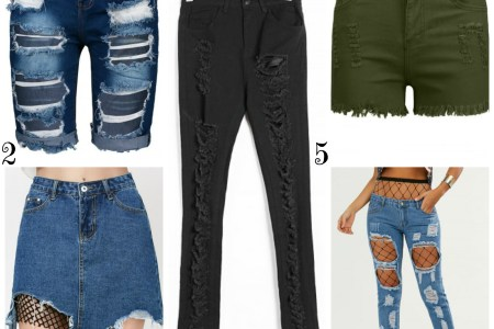 How to Wear High Waisted Ripped Jeans