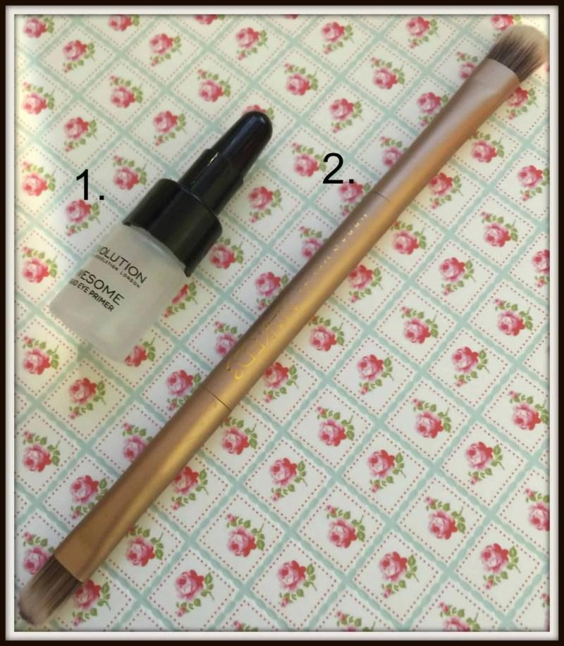 newbie makeup bag eyes eyeshadow primer brush