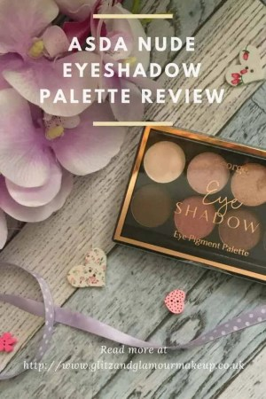 Get ready for the party season with Asda Nude eyeshadow palette