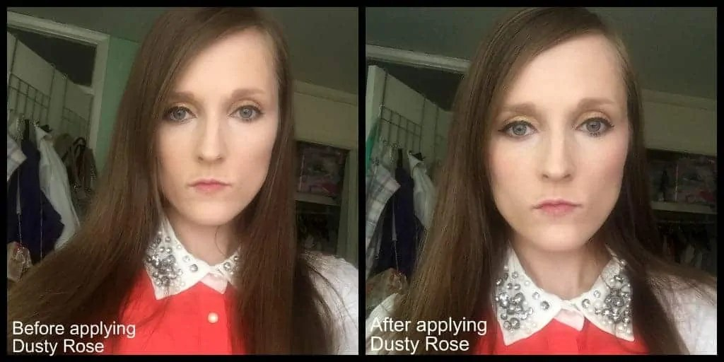 get a natural glow with lord and berry cream blushers before and after dusty rose
