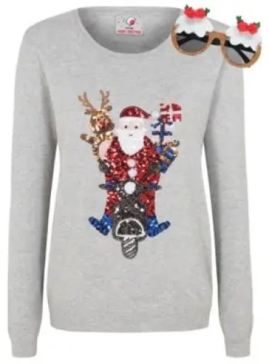 some of the best christmas jumpers for the festive season george santa jumper