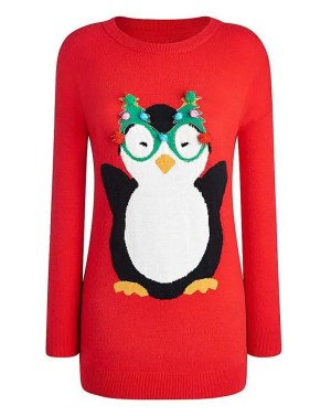 some of the best christmas jumpers for the festive season marisota penguin jumper