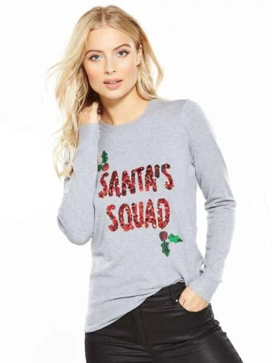 some of the best christmas jumpers for the festive season santas squad jumper