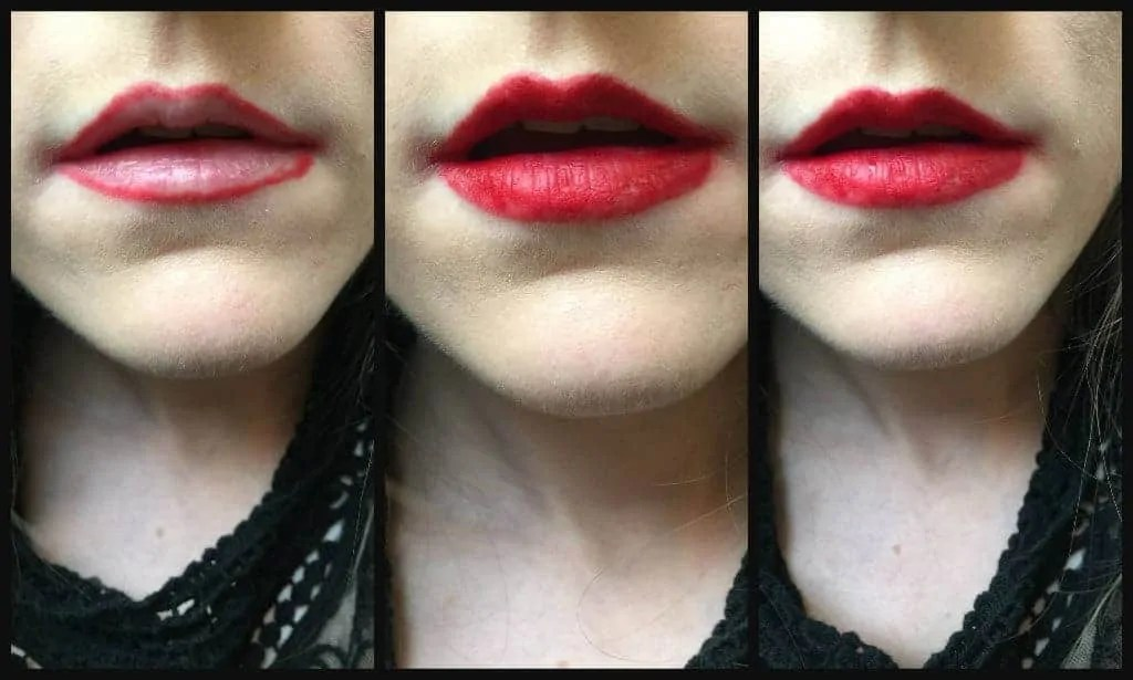 Get big full lips with Maybelline Gigi hadid Lani lip kit before and after