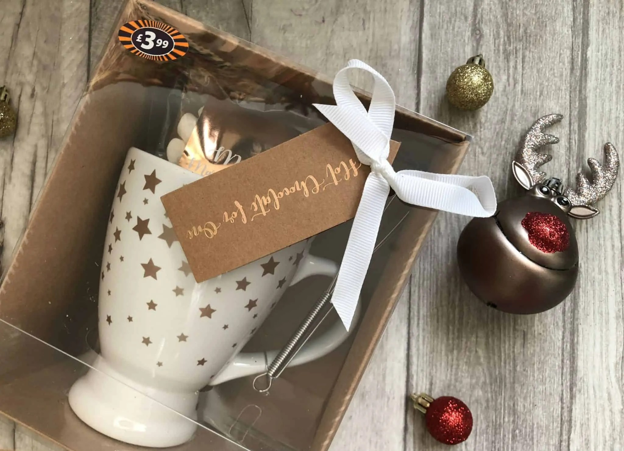 Last minute budget friendly Secret Santa gifts for her from B&M hot chocolate set