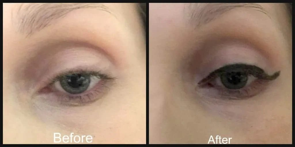 before and after rimmel wonder wing eyeliner
