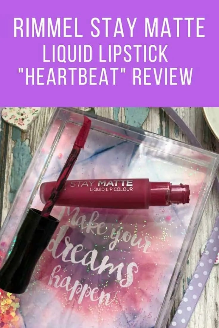 rimmel stay matte liquid lipstick heartbeat review