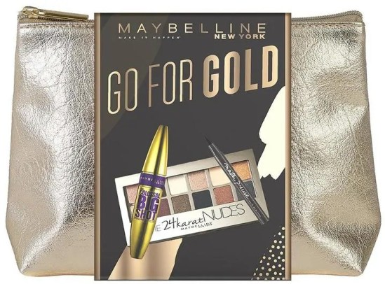 some of the best beauty gift ideas to spoil your loved one this year maybelline go for gold christmas makeup gift set