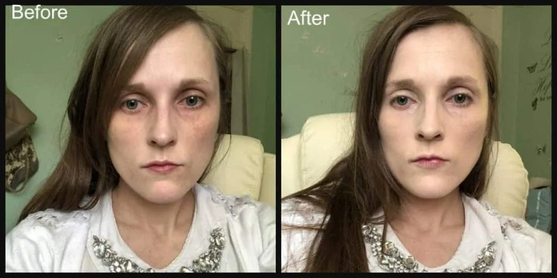 sleek lifeproof foundation before and after