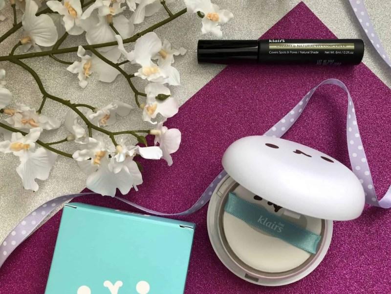Testing Korean beauty Klairs Mochi BB Cushion Pact and Klairs concealer