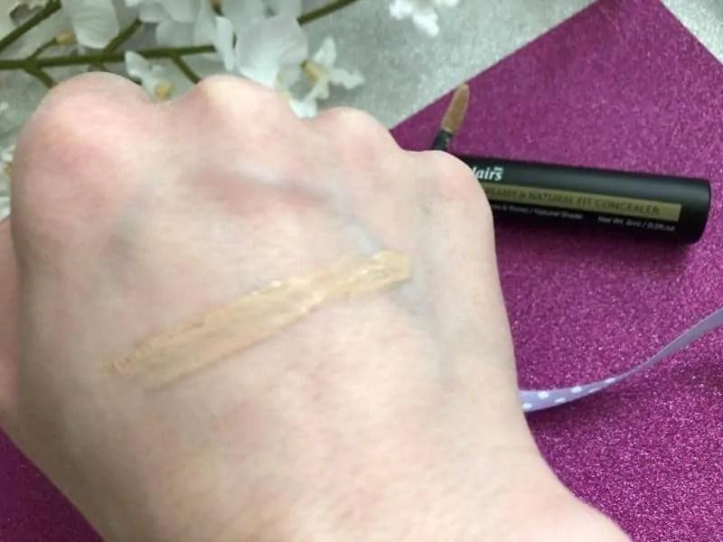 Testing Korean beauty Klairs concealer natural swatch