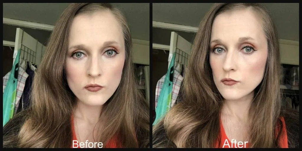 barry m liquid chrome highlighter before and after