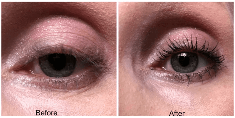 maybelline total temptation mascara before and after