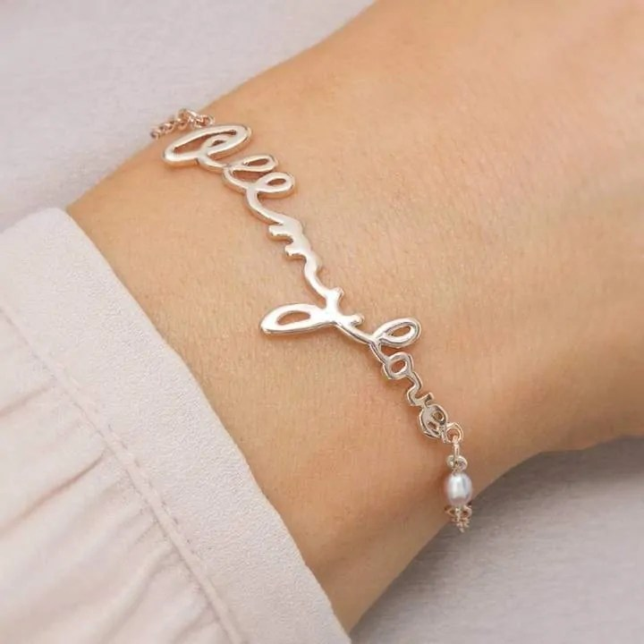 mothers day gift ideas jewellery and beauty bloom boutique personalised all my love pearl bracelet