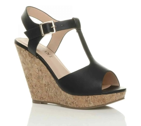 uppersole high heel wedge t bar platform sandals