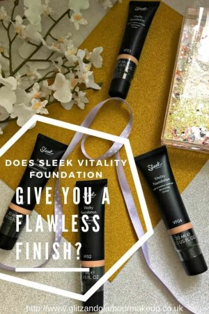 Does sleek vitality foundation give a flawless finish