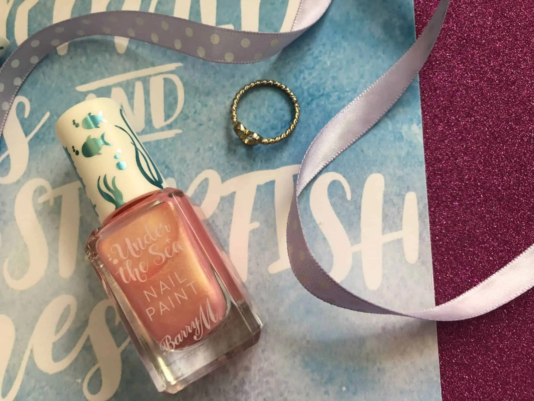 barry m under the sea nail varnish in pinktail