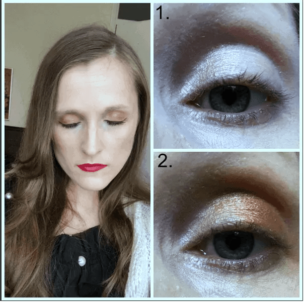 primark ps nudes rose gold eyeshadow look
