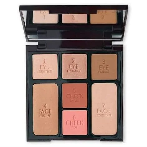 best beauty products to use when travelling charlotte tilbury instant look in a palette beauty glow