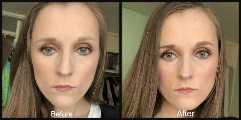 smashbox brow tech to go before and after