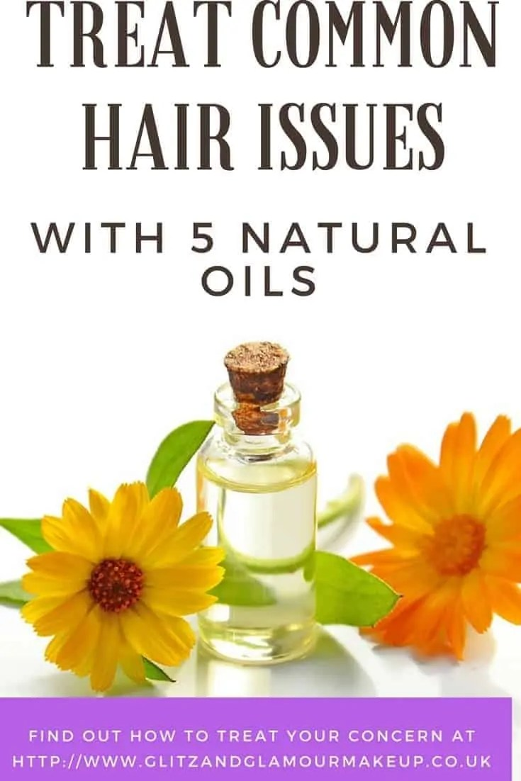 treat common hair issues with 5 essential oils