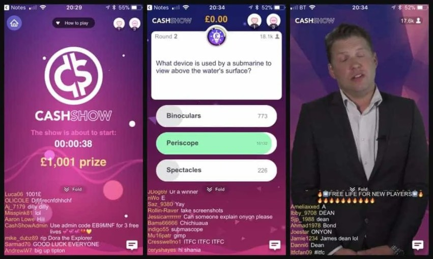 The free quiz apps that want you to win money cash show
