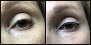 nyx strictly vinyl liquid eyeliner dauntless before and after