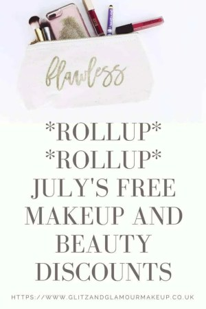 free makeup and beauty discounts for july 2018