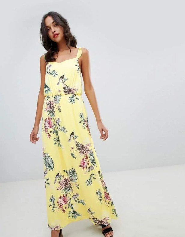 the best floaty dresses for summer vila floaty floral maxi dress