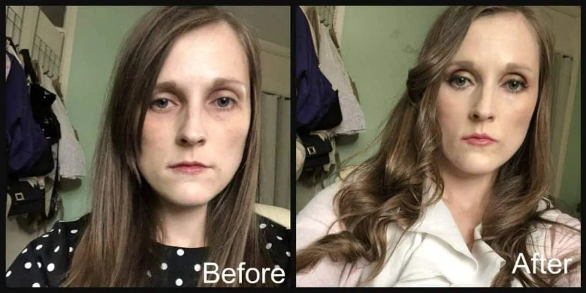 Speed up your morning routine with Revolution Fast Base makeup stick foundation before and after