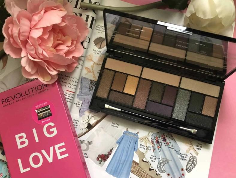 Makeup Revolution cosmetics massive makeup palette competition big love eyeshadow palette