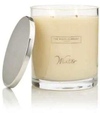 the best winter candles to give your home a cosy feel the white company winter indulgence candle