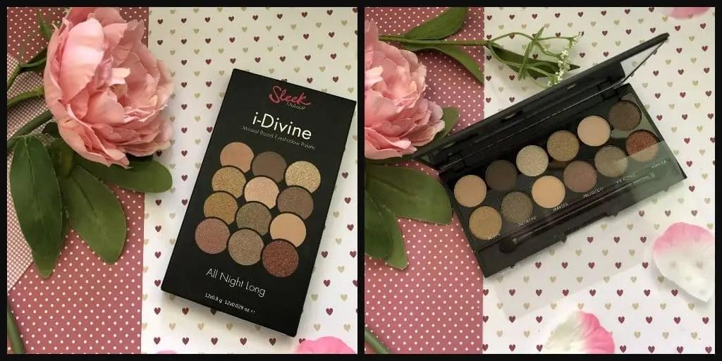 win sleek i-divine all night long eyeshadow palette