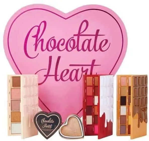 birthday gift guide for her i heart revolution chocolate heart makeup gift set