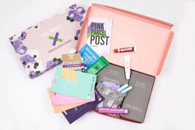 pink parcel beauty box